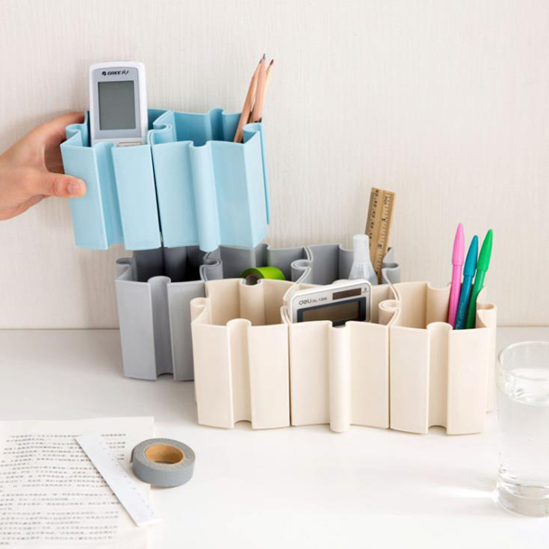 1pcs Creative Multifunction Stitching Combined Storage Box Cosmetic Socks Stationery Desktop Sundries Storage Organizer