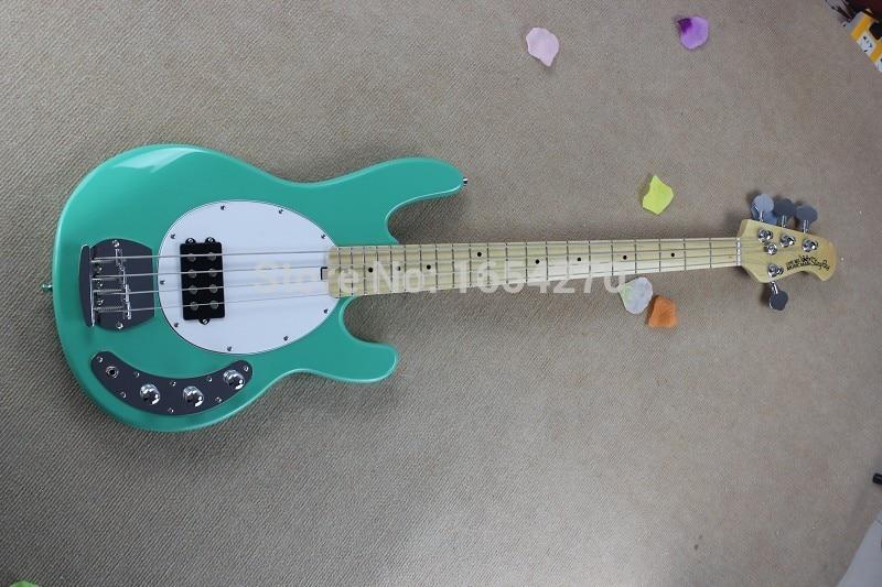 Бесплатная Доставка! Лидер продаж высокое качество Ernie Ball Musicman Music Man Sting Ray 4 Strings зеленый Электрический бас-гитара 150708