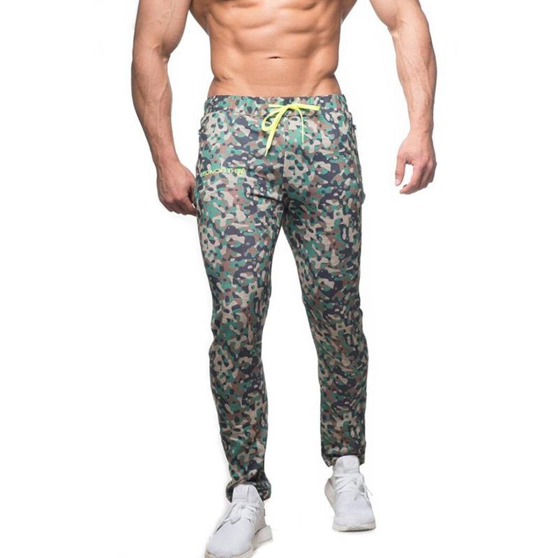 Fitness Territory New Sports Pants Muscle Men Running Fitness Leisure