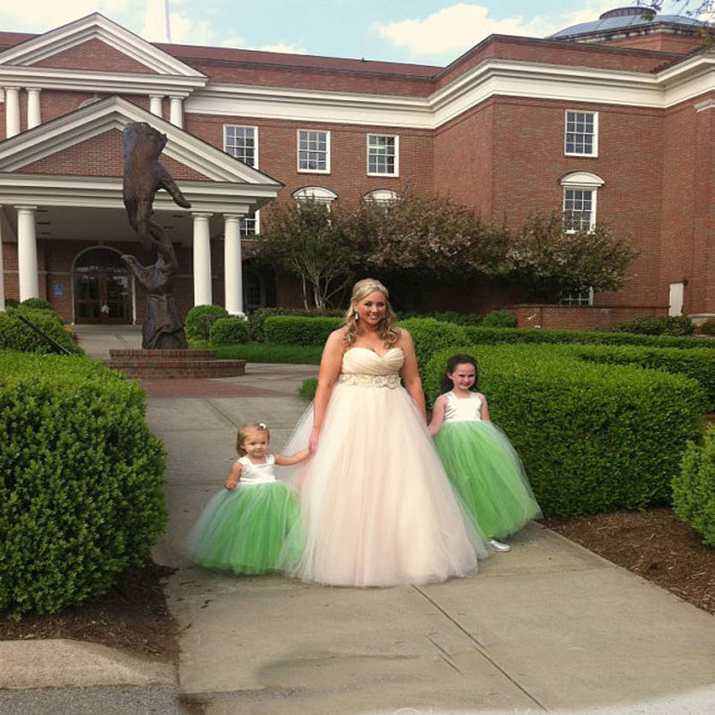 Ball Gown Flower Girl Dresses for Wedding Tulle First Communion Dresses for Girls Sleeveless Girls Dress Mother Daughter Dresses цена 2017