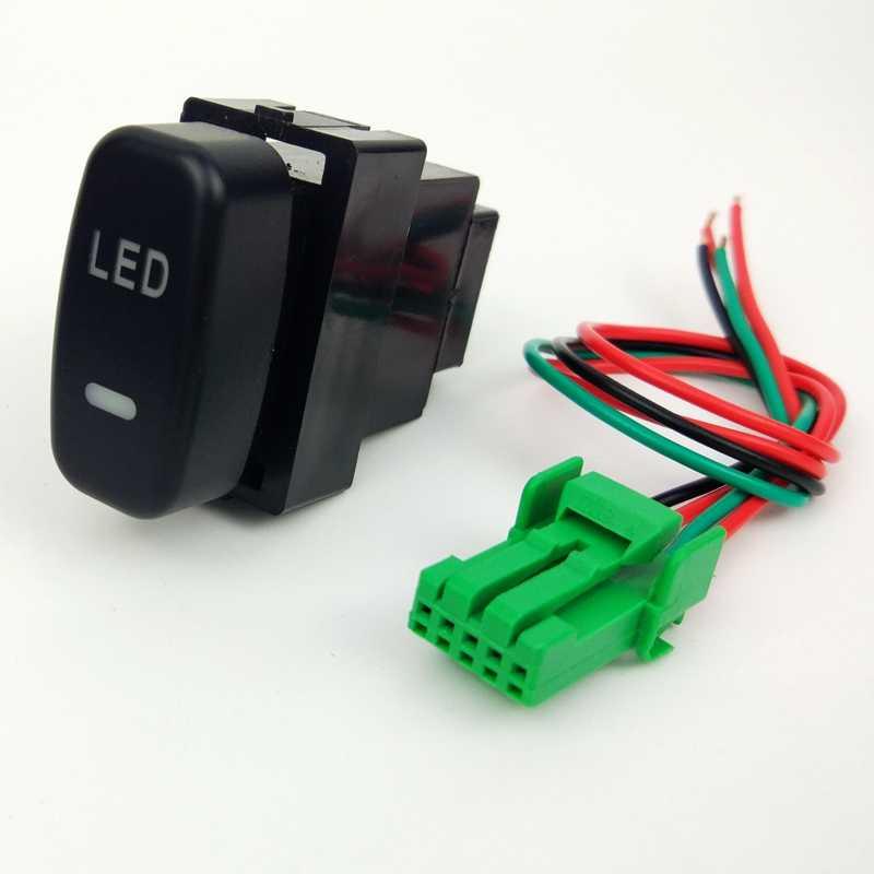 DRL ventilateur LED antibrouillard avant caméra enregistreur moniteur Radar capteur de stationnement bouton de commutation fil pour Mitsubishi Pajero iO Lancer EX