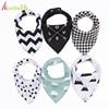 20 Styles 4pcs Lot Bibs Burp Cloth Print Arrow Wave Triangle Baby Bibs Cotton Bandana Accessories