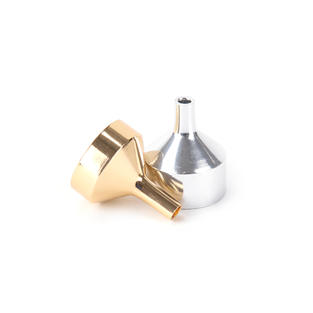 1pcs Stainless Steel Small Funnels For Perfume Liquid Essential Oil Filling Empty Bottle Packing Tool Send Silver Color