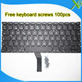 """Nova marca SP Espanhol teclado + 100 pcs parafusos do teclado Para MacBook Air 13.3 """"A1369 A1466 2010-2015 anos"""