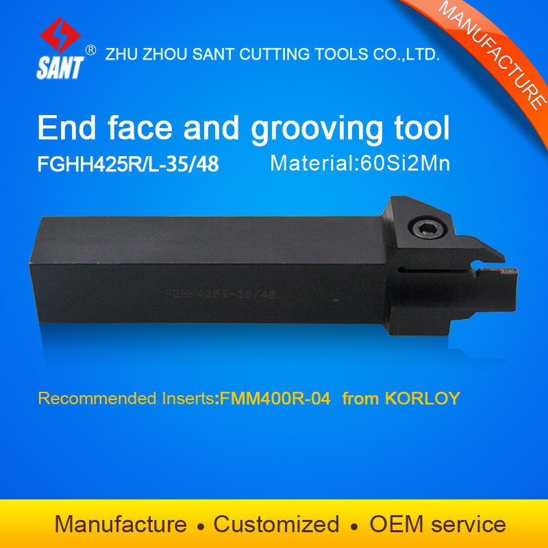 CNC machine cutting tools Grooving tool holder  FGHH425R 35/48 with Korloy inserts FMM400R 04 selling hot in abroad|grooving tool holder|cut holder|cutting tool holder - title=