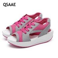 2017 ירידה במשקל אופנה נעלי נשים אביב קיץ סתיו נשי נדנדה נעלי רשת לנשימה נעליים מזדמנים נשים AF309