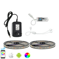 LED Strip Set IP65 Waterproof 5050 RGB 10M/600LED Flexible Strip Light+APP Control MIni Wifi RGB Controller+12V 3A Power Adapter