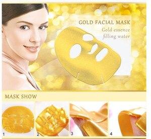 Image 4 - 10Pcs/Lot Skin Care Facial Mask Gold Collagen Black Mask Gold Crystal Collagen Powder Moisturizing Firming Oil Control Face Mask