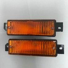 1 пара новая Подлинная лампы желтый для BMW E30 M40 318i 320i 325i переднего бампера Угловые сигнальные свет лампы Замена 1983-1991
