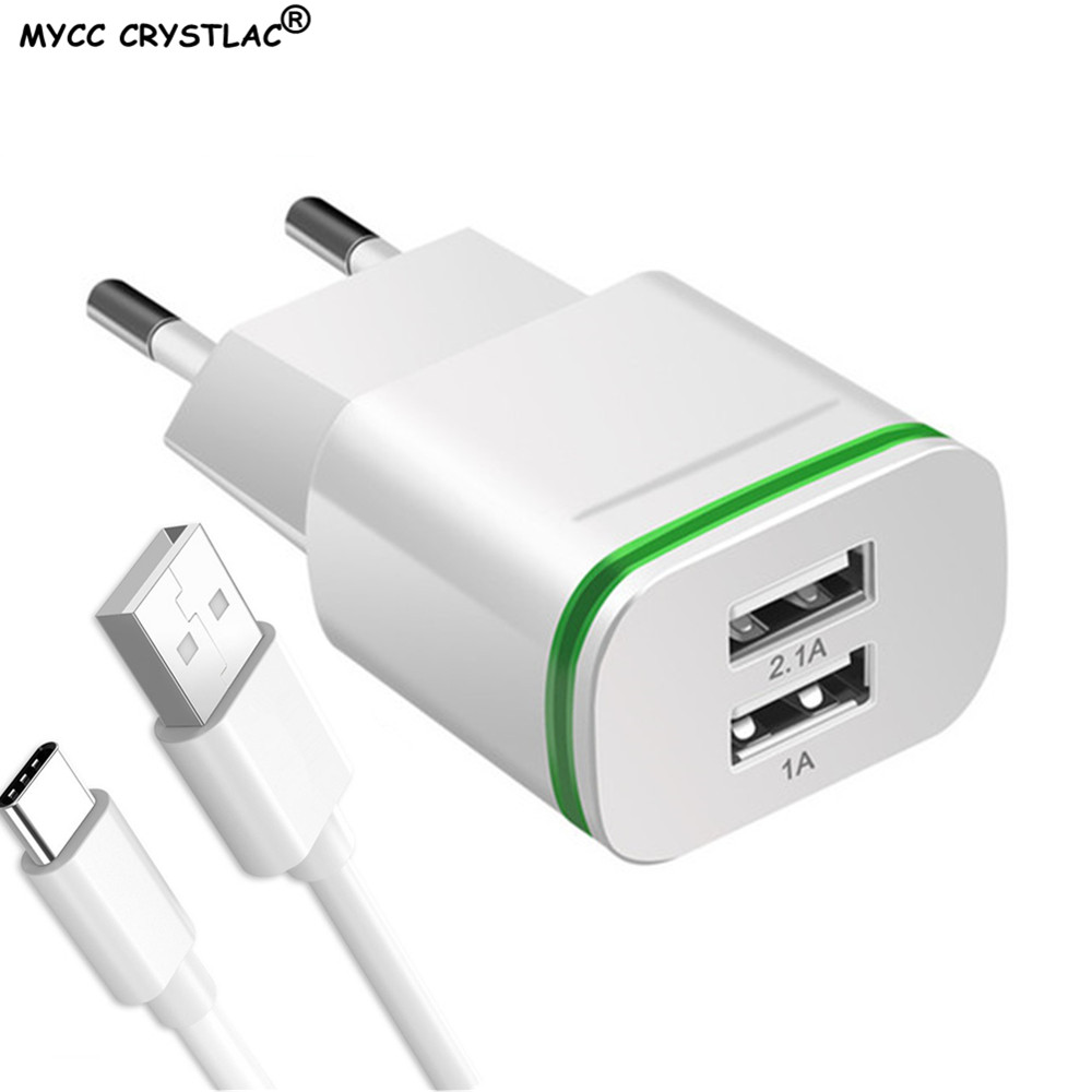 <font><b>5V</b></font> 2.1A <font><b>USB</b></font> <font><b>Charger</b></font> EU Plug Fast Charging For Xiaomi Redmi 4 4A 4X 4C 5 Plus Note 4X 5A Prime Travel <font><b>Wall</b></font> Mobile Phone <font><b>Charger</b></font> image