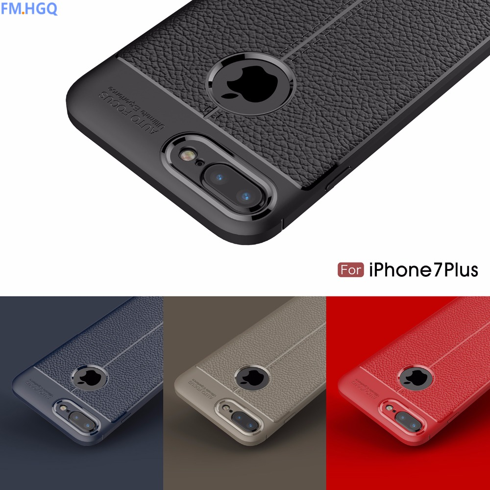 Phone back cover For iPhone 7 6 6S 8 plus Case Silicon TPU PU fundas For Apple iPhone 6 7 8 plus Cases Luxury Accessories