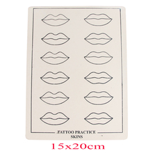 5/10/15/30PCS Professional Lip Mouth Tattoo Practice Skins Cosmetic Permanent Makeup Fake Lip Practice Skin Supply Free Shipping