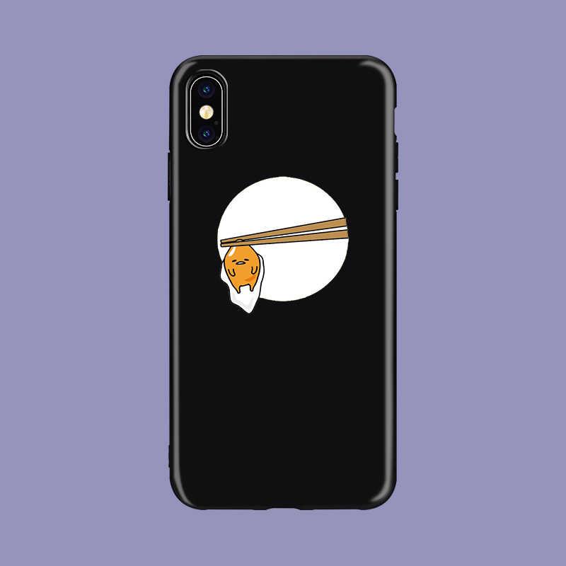 חמוד יפה gudetama עצלן ביצת חידוש שקוף רך TPU כיסוי טלפון מקרה עבור iPhone 8 7 6 6S בתוספת X XS XR מקסימום 5 5S SE