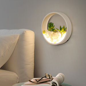 Image 4 - Nordic Plant Wandlampen Creatieve Nachtkastje Slaapkamer Lamp Trouwzaal Trap Woonkamer Eenvoudige Moderne Gangpad Wandlamp
