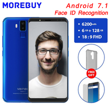 Vernee X 6 GB RAM 128 GB ROM Handy Android 7.1 Octa-core gesicht ID Smartphone 6,0 zoll 18:9 FHD 4G Vier Kamera 6200 mAh Rollenmaschinenlinie Typc
