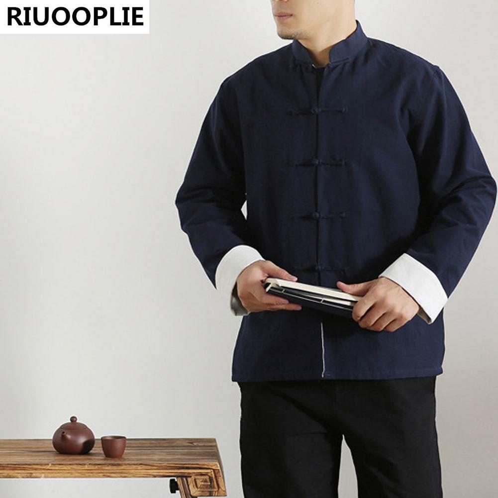 RIUOOPLIE långärmad dubbelsidig traditionell kinesisk kläder Tang - Nationella kläder - Foto 3