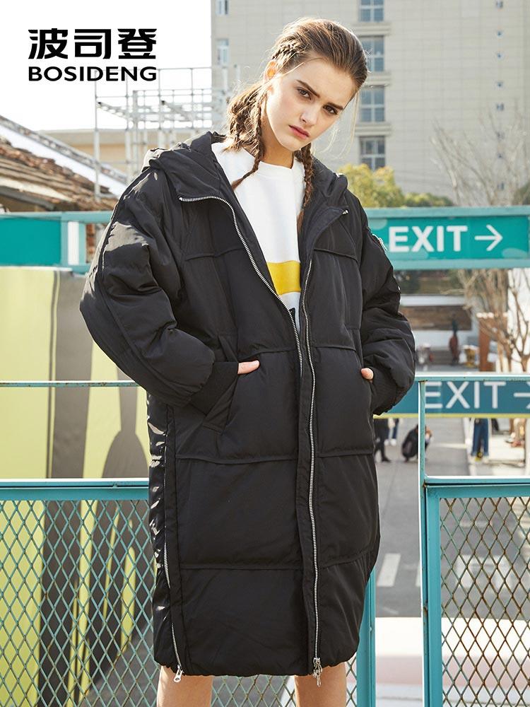756a0866774a BOSIDENG 2018 winter thicken X-Long down coat women down parka wide-waisted  loose