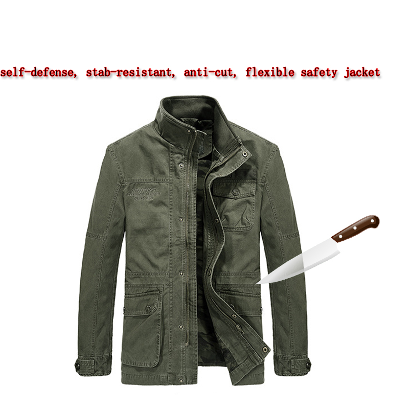 Self Defense Tactical SWAT POLICE Gear Anti Cut Knife Cut Resistant Men Jacket Anti Stab Proof Military Security Clothin 2019New
