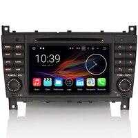Android7.1.2 DAB+ CD DVR Bluetooth CAM IN Wifi OBD2 Autoradio Car GPS Navigation FOR Mercedes C/CLK Class W203 W209