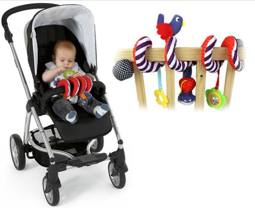 Купить с кэшбэком New Arrive Plush Toy Newborn Baby Stroller Toys Lovely Bird Model Baby Bed Hanging Toys Educational Baby Rattle Toys 1pc