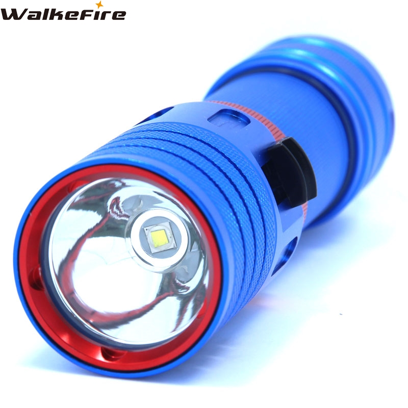 5000LM XM-L2 Waterproof Dive Underwater 80 Meter LED Diving Flashlight Torch Lamp Light Camping Lanterna With Stepless dimming underwater 100m 10000lm xm l 5l2 stepless dimming diving flashlight waterproof led dive torch light use 2x18650 battery