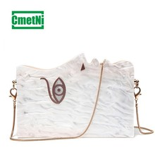 2019 White Acrylic Vintage Crossbody Personality Side Acrylic Dinner Party Bag Personalized Luxury Clutch