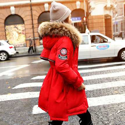 Luxury Fur Hooded Slim Waist Long Parkas 2015 Fashion Winter Coat Women Thicken Warm Wadded Outerwear H6030 winter down coat women 2016 fashion fur hooded slim waist x long down parkas women thicken wadded outerwear plus size xxl h6358