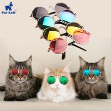 Мягкие кошачьи очки для домашних животных, собачьи очки для домашних животных, разные цвета для маленьких собак, кошачий глаз, солнцезащитные очки для собак, фото, товары для домашних животных
