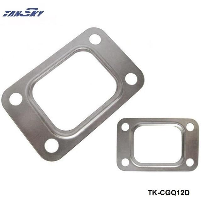 10PCS/LOT  T25 T28 GT25 GT28 GT2876 Turbo Turbine Exhaust Inlet Manifold Flange Gasket 304 Stainless Steel TK-CGQ12D