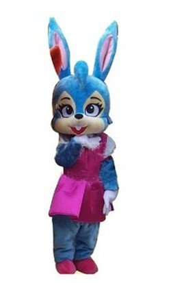 Newest Cute Version Blue Rabbit Bugs Bunny Mascot Costume Cartoon Mascot Character Costume Free Shipping