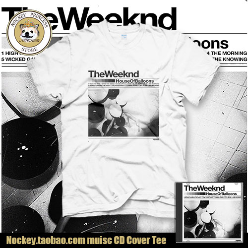 The Weeknd Singer House Of Balloons CD Cover Cotton Short Sleeve T Shirt  Tee T Cloth In T Shirts From Menu0027s Clothing U0026 Accessories On Aliexpress.com  ...