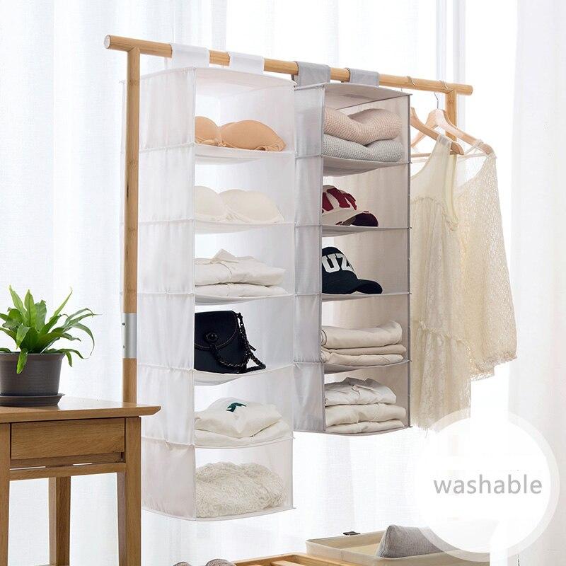 2018 nouveauté sac de rangement armoire sac de rangement Oxford tissu matériel vêtements en peluche jouet accessoires en couches placard organisateur