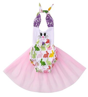 Cute Newborn Infant Baby Girls Sequined Tank Bunny Romper Tulle One-piece Sunsuit Clothes puseky 2017 infant romper baby boys girls jumpsuit newborn bebe clothing hooded toddler baby clothes cute panda romper costumes
