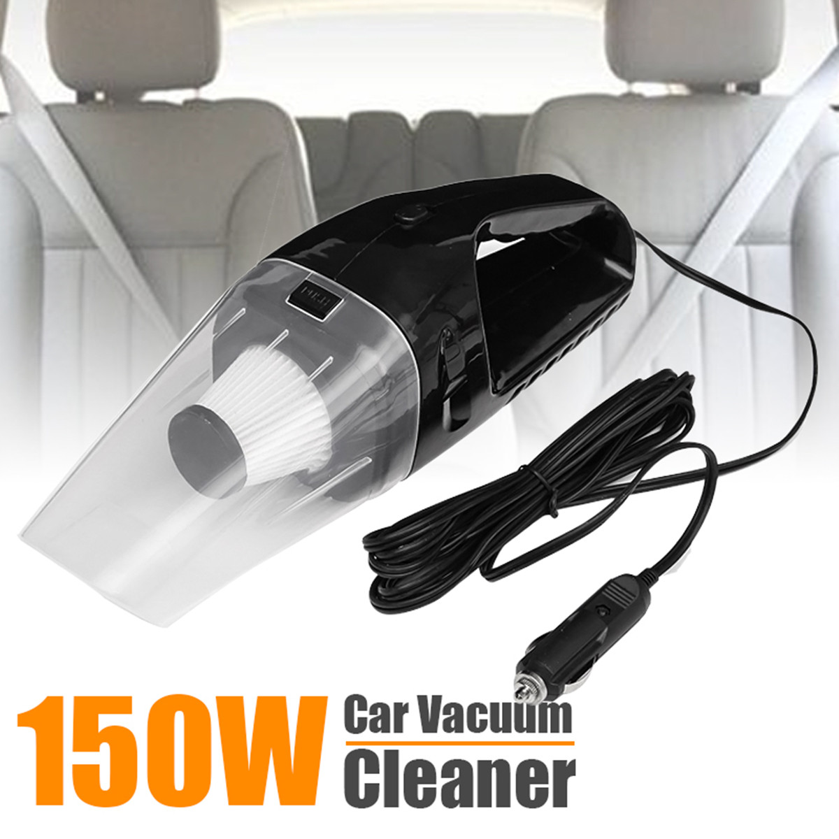 Car Vacuum Cleaner 150W 12V Portable Handheld Auto Vacuum Cleaner Wet Dry Duster Rechargeable Aspirateur Voiture wet and dry vacuum cleaner 80w rechargeable wireless home car vacuum cleaner brush mites killer