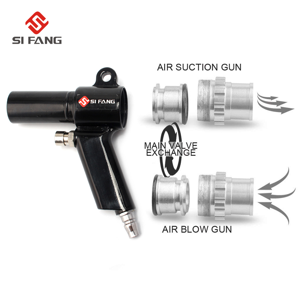 Image 3 - Air Wonder Gun Kit Dual Function Air Vacuum Blow Gun Pneumatic Vacuum Cleaner Kit Air Blow Suction Gun Kit Tools-in Pneumatic Tools from Tools on