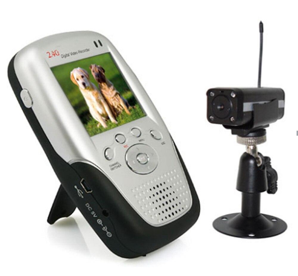 2.4 ГГц Беспроводной маленьких Камера ИК Ночное видение Портативный ЖК дисплей Дисплей Беспроводной Видеоняни и Радионяни