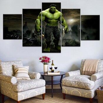 5 pcs Hulk Canvas painting 1