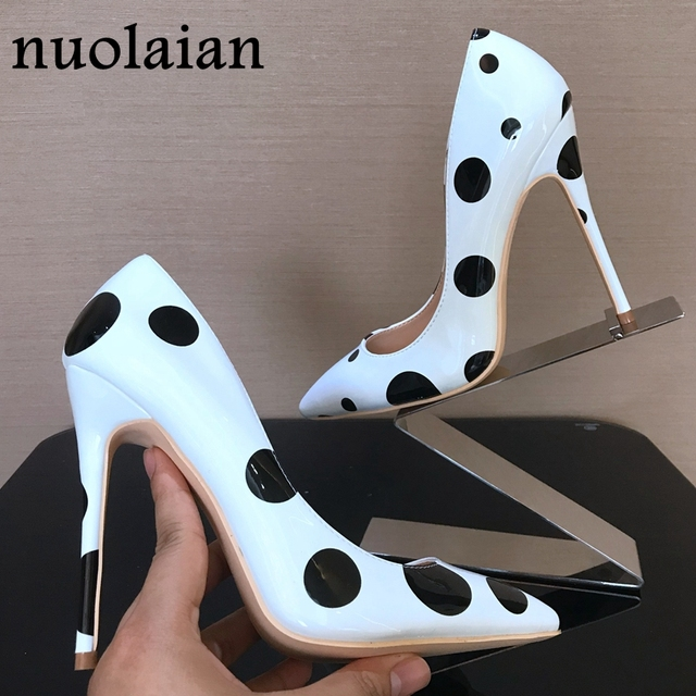 8 10 12CM Women Patent Leather Pumps Pointed Toe High Heels Wedding Stiletto Ultra High Heel Sexy Ladies Party Shoes Woman Shoe