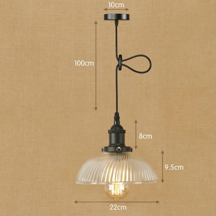 IWHD Glass Vintage Industrial Hanging Lamp Style Loft Pendant Lights LED Home Lighting Fixtures Kitchen Iron Light Iluminacion new loft vintage iron pendant light industrial lighting glass guard design bar cafe restaurant cage pendant lamp hanging lights