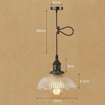 IWHD de vidrio Vintage Industrial estilo lámpara de loft luces LED iluminación...