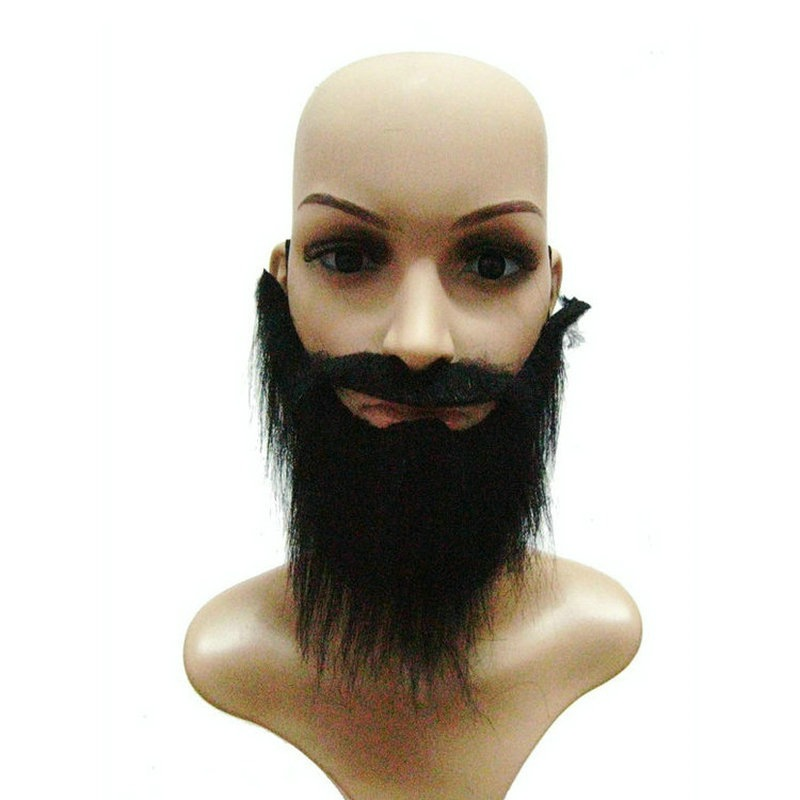 Fake Black Beard False Moustache Halloween Party Theatre Prop Cosplay Prop High