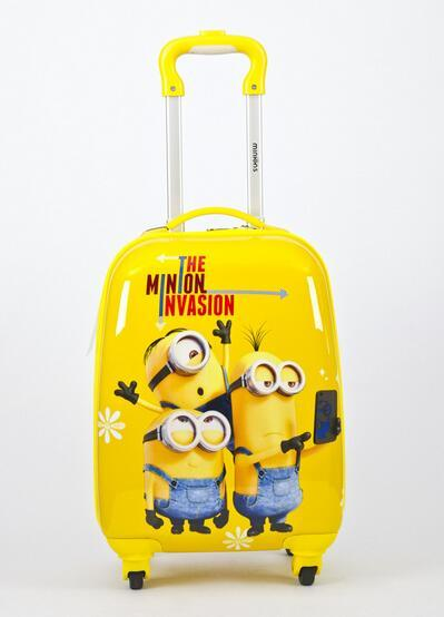 2017 BSO Minions luggage 16-inch Despicable Me child trolley case  universal wheel cartoon suitcase