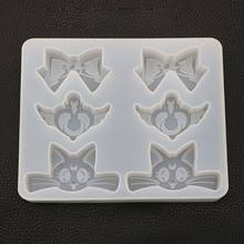 Cartoon Cat Bowtie Heart Wing Pendant Silicone Mold UV Resin Mold Jewelry Tools(China)