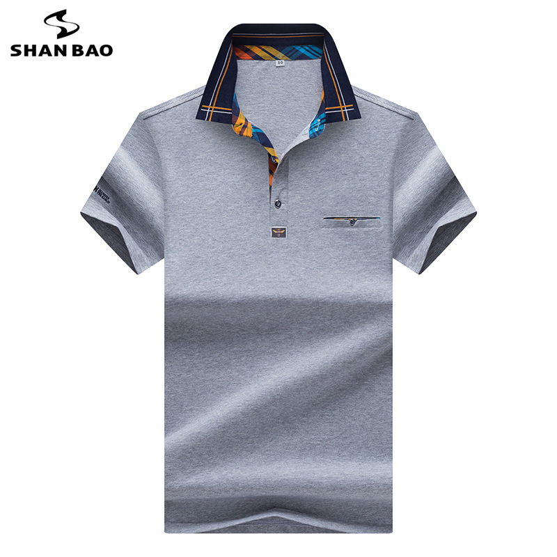 2019 summer new style lapel large size high quality cotton business casual men 39 s short sleeve Polo shirt blue white red yellow in Polo from Men 39 s Clothing
