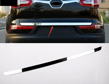 Купить с кэшбэком 2011-2015 Dongfeng yueda accessories made of high quality stainless steel trunk For kia Sportager trunk lid trim decorati