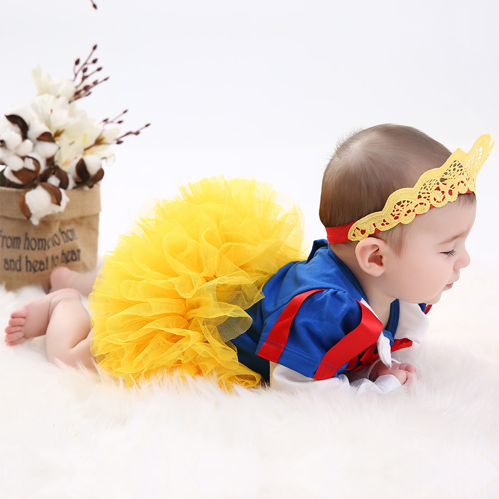 Snow White Girl Romper tutu Dress Princess Cosplay Baby Clothing Sets Kids Girls Dresses Party Infant/Toddler Costume Clothes
