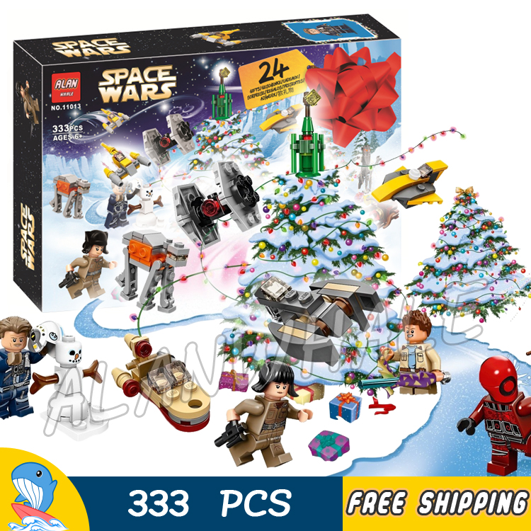 333pcs Winter Holiday Star Wars Advent Calendar Starships Vehicles 11013 Model Building Blocks Toys Bricks Compatible with Lego