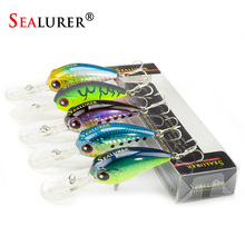 SEALURER 1Pcs Boxed  Fishing lures Float Crankbait  Minnow  Excessive High quality Sort out  85mm  11.5g  Wobblers   with 8#  Hooks 3D Eyes