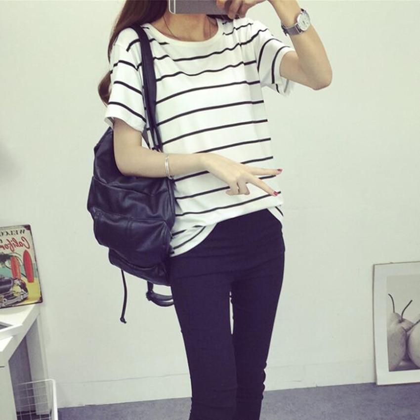 Jielur καλοκαιρινή μόδα χαλαρή Camisetas Mujer - Γυναικείος ρουχισμός - Φωτογραφία 4