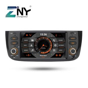 Image 1 - 4 GB Android 9.0 samochodowe GPS Stereo dla Fiat Grande Punto Linea 2012 2013 2014 2015 radio samochodowe FM WiFi nawigacji kamera tylna nie DVD